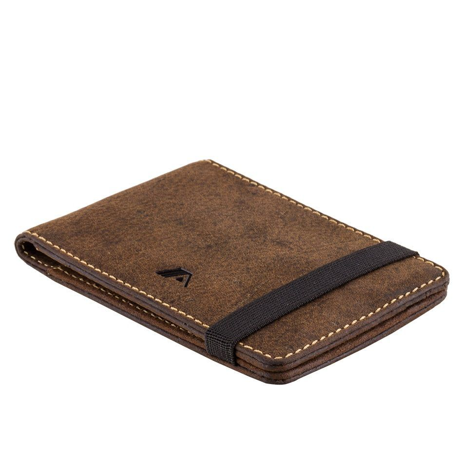 A-SLIM Leather Wallet Kihaku - Brown